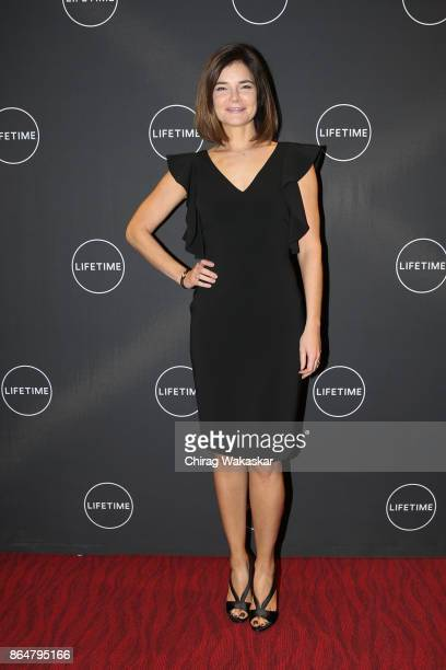 Betsy Brandt poes for pictures during Lifetime's Flint screening at The Whiting on October 21 2017 in Flint Michigan