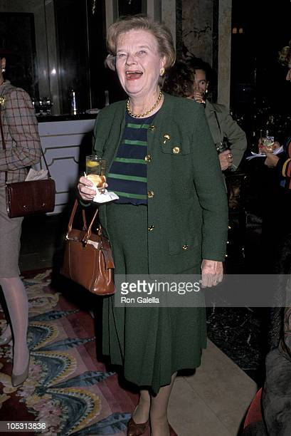 Betsy Cronkite during American Cancer Society Hosts Humanitarian Award Lunch - November 10, 1989 at The Plaza Hotel in New York City, New York,...