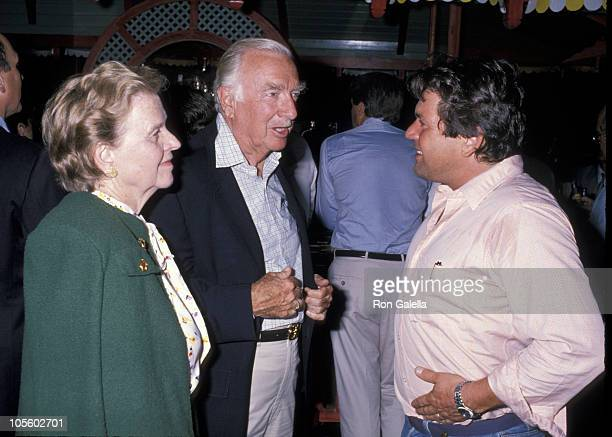 Betsy Cronkite, Walter Cronkite, and Jann Wenner during Malcolm Forbes' 70th Birthday Party, 1989 at Tangier Country Club in Tangier, Morocco.