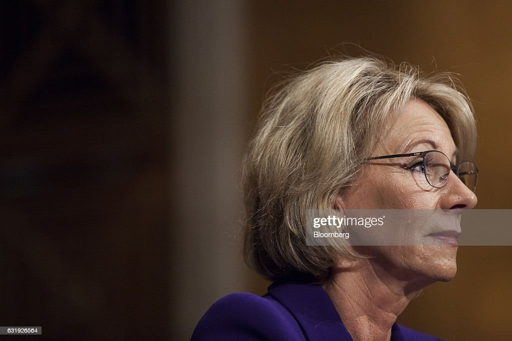 Senate HELP Committee Considers Betsy DeVos To Be Education Secretary : News Photo