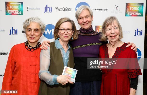 Betsy Gregory, Emma Gladstone, Siobhan Davies and Val Bourne attend The Tonic Awards 2019 at The May Fair Hotel on March 25, 2019 in London, England.