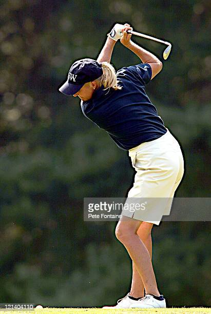 Betsy King competes during the third round of the Weetabix Women's British Open at the Sunningdale Golf Club on July 31 2004