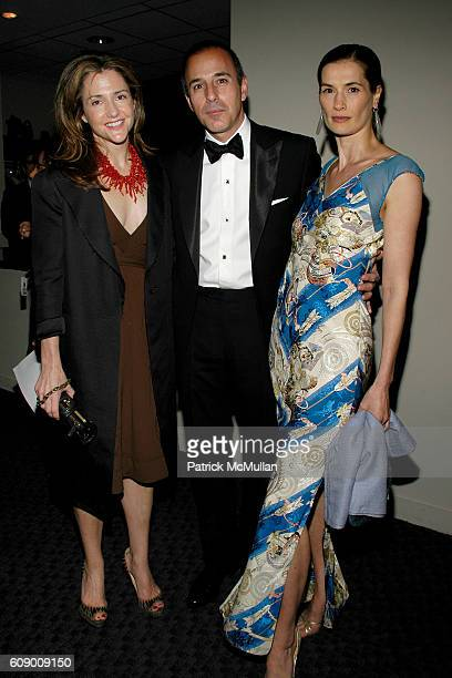 Betsy Lac Matt Lauer and Annette Roque Lauer attend TIME Magazine's 100 Most Influential People 2007 at Jazz at Lincoln Center on May 8 2007 in New...