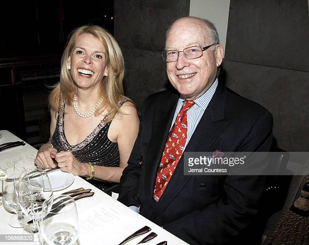 Betsy McCaughey and Peter Trent during Private Dinner in Honor of Cate Blanchett Celebrating the Sydney Theatre Company Production of Hedda Gabler at...