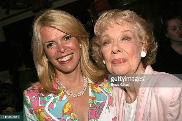 Betsy McCaughey Ross and Joyce Randolph during Steel Magnolias Final Performance on Broadway Benefiting The Actors Fund of America at The Lyceum...