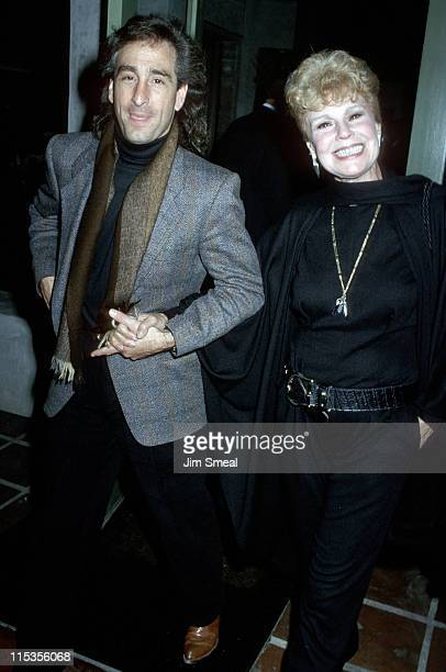 Betsy Palmer and date during CBS Television Party January 14 1990 at Campanelli Restaurant in Los Angeles California United States