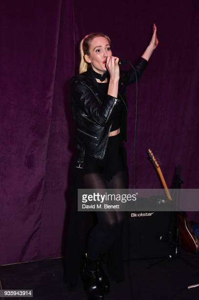 Betsy performs at The Perfumer's Story evening of Scentsory delights hosted by Aures London Azzi Glasser at Sensorium on March 21 2018 in London...