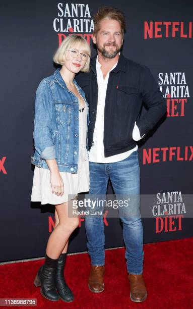 Betsy Phillips and Zachary Knighton attend Netflix's 'Santa Clarita Diet' Season 3 Premiere at Hollywood Post 43 on March 28 2019 in Los Angeles...