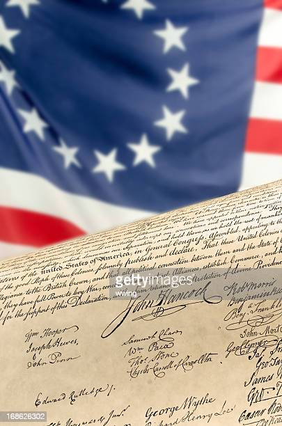 Betsy Ross Flag and Declaration of Independence