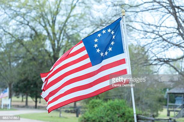 Betsy Ross flag, Historic Camden, Camden, South Carolina, USA