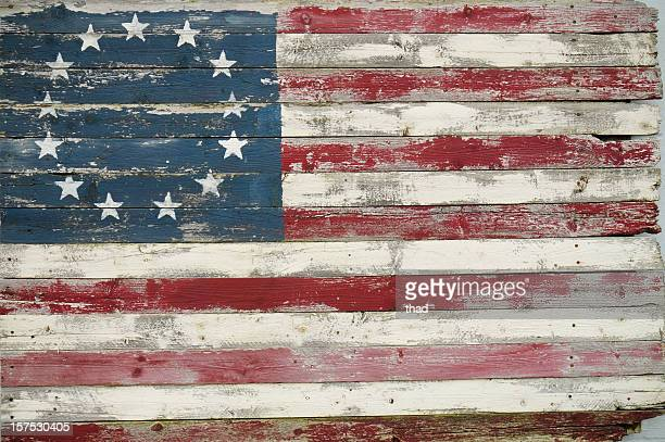 Betsy Ross Flag in Wood