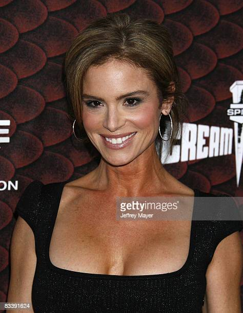 Betsy Russell arrives at the Spike TV's Scream 2008 Awards at The Greek Theater on October 18 2008 in Los Angeles California