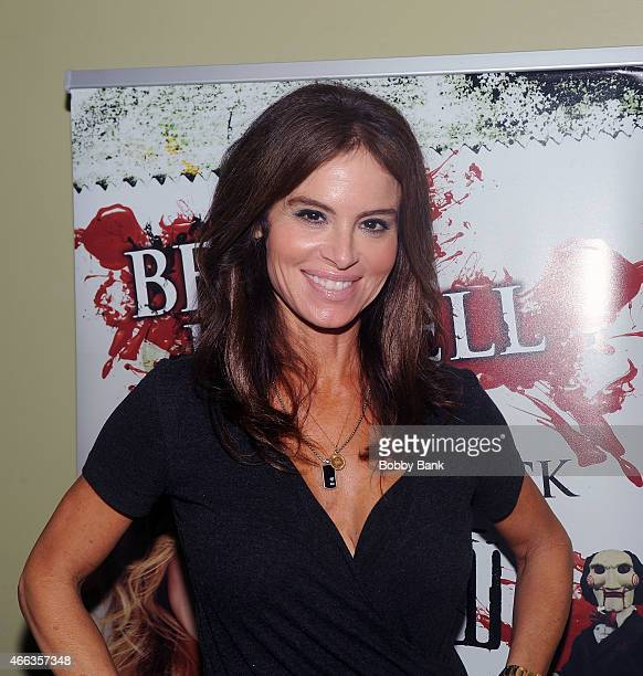 Betsy Russell attends the 2015 Monster Mania Con at NJ Crowne Plaza Hotel on March 14 2015 in Cherry Hill New Jersey