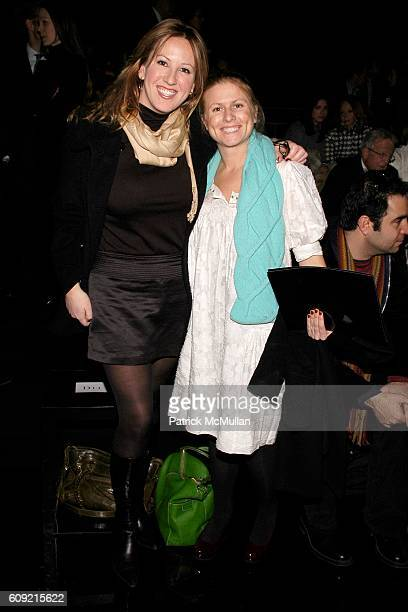 Betsy Scherzer and Dominga Gardner attend TOMMY HILFIGER Fall 2007 Collection at Hammerstein Ballroom on February 9 2007 in New York City
