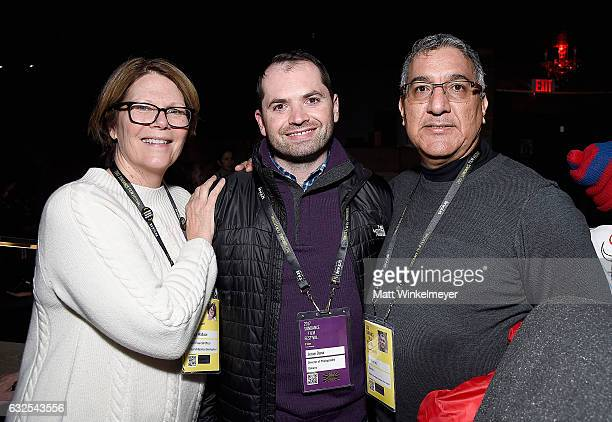 Betsy Wallace Jesse Dana and Rick Perez attend the Film Independent International Documentary Association Oovra Music And RO*CO FILMS Sundance Party...