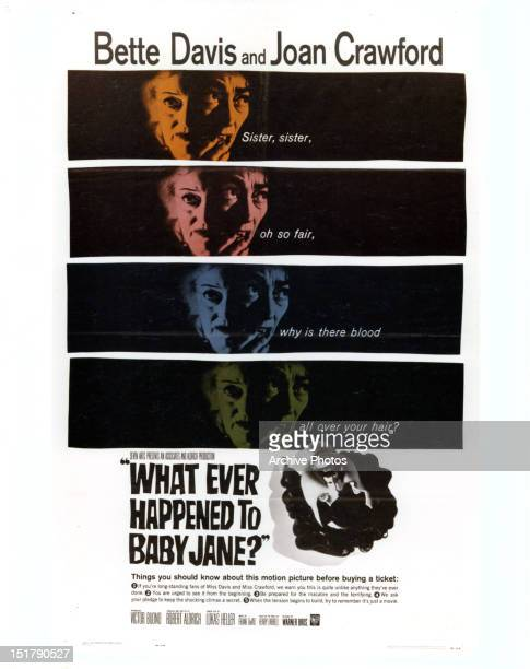 Bette Davis and Joan Crawford movie art for the film 'What Ever Happened To Baby Jane' 1962