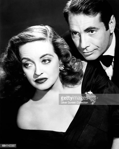 Bette Davis as Margo Channing and Gary Merrill as Bill Simpson in the film 'All About Eve' 1950