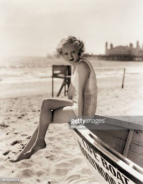 Bette Davis at a Southern California beach