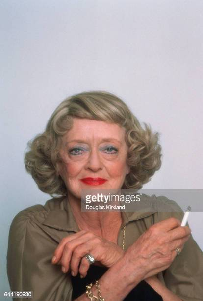 Bette Davis Holding Cigarette