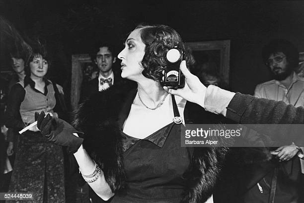Bette Davis impersonator in a look-alike contest at the Institute of Contemporary Art, Boston, Massachusetts, USA, 17th January 1979.