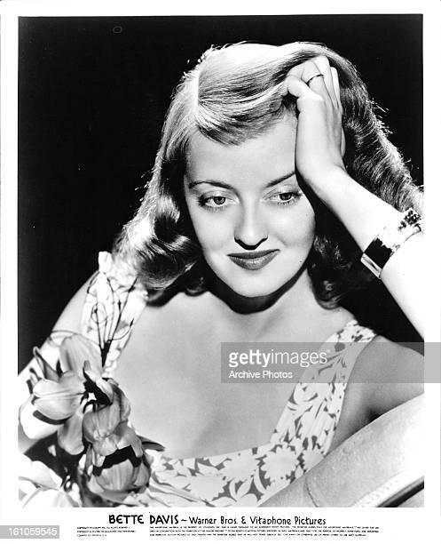 Bette Davis in publicity portrait for the film 'A Stolen Life' 1946