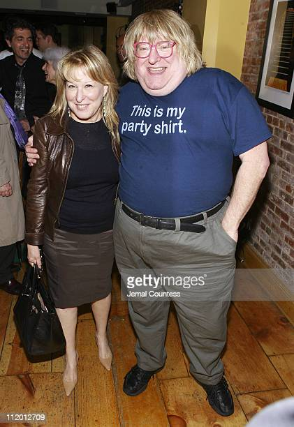 Bette Midler and Bruce Vilanch during Bruce Vilanch and Celebrity Friends Celebrate His Guest Performance in the Play 'Spalding Gray Stories Left to...