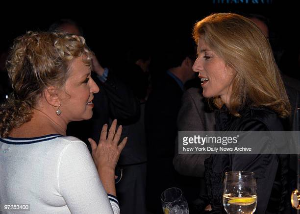 Bette Midler and Caroline Kennedy Schlossberg attending the Tiffany Mar Watch launch at Wanderbilt Hall in Grand Central Midler and Kennedy's husband...