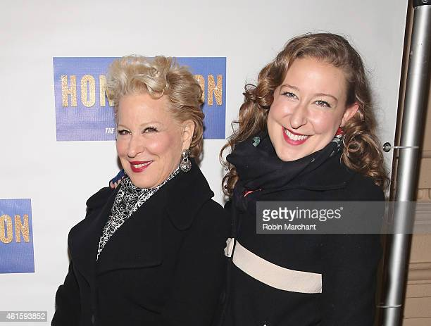 Bette Midler and daughter Sophie von Haselberg attend Honeymoon In Vegas Broadway Opening Night at Nederlander Theatre on January 15 2015 in New York...