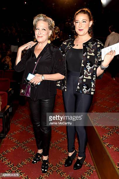 Bette Midler and daughter Sophie von Haselberg attend the Marc Jacobs Spring 2016 fashion show during New York Fashion Week at Ziegfeld Theater on...