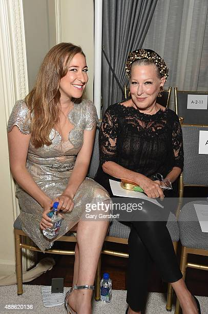 Bette Midler and daughter Sophie von Haselberg attend the Marchesa fashion show during Spring 2016 New York Fashion Week at St Regis Hotel on...
