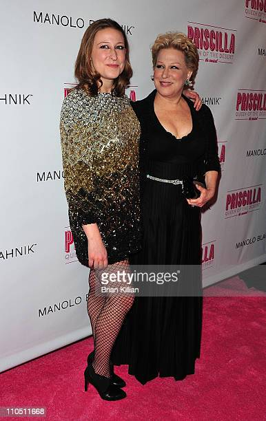 Bette Midler and daughter Sophie Von Haselberg attends the Broadway opening night of Priscilla Queen of the Desert The Musical at the Palace Theatre...