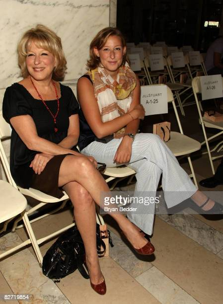 Bette Midler and her daughter Sophie Frederica Alohilani Von Haselberg attend the Jill Stuart Spring 2009 fashion show during MercedesBenz Fashion...
