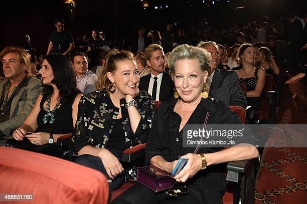 Bette Midler and her daughter Sophie von Haselberg attend the Marc Jacobs Spring 2016 fashion show during New York Fashion Week at Ziegfeld Theater...