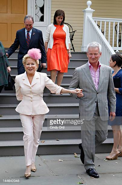 Bette Midler and her husband Martin von Haselberg attend the 2012 Doris C Freedman Award Ceremony at Gracie Mansion on May 16 2012 in New York City