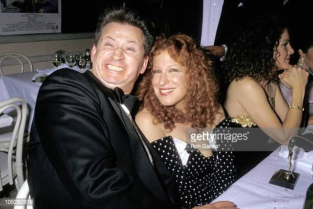 Bette Midler and Husband Martin von Haselberg during Swifty Lazar Oscar Party at Spago's Restaurant in Hollywood California United States