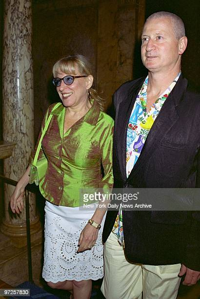 Bette Midler and husband Martin von Hasselberg arrive for a party at Le Cirque after a screening of the TV movie James Dean