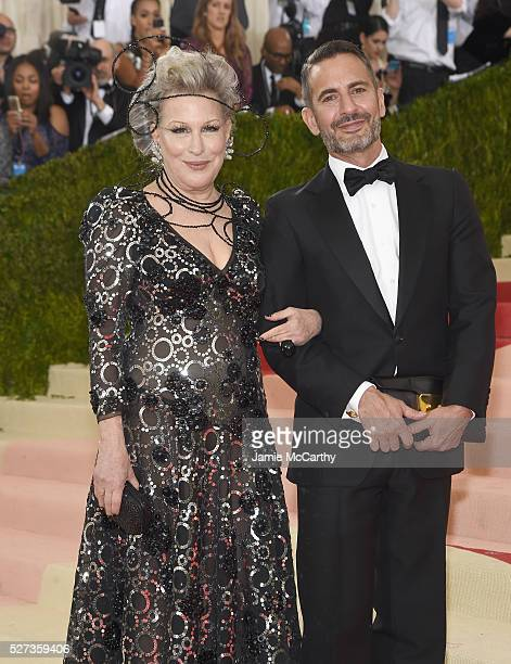 Bette Midler and Marc Jacobs attends the 'Manus x Machina Fashion In An Age Of Technology' Costume Institute Gala at Metropolitan Museum of Art on...