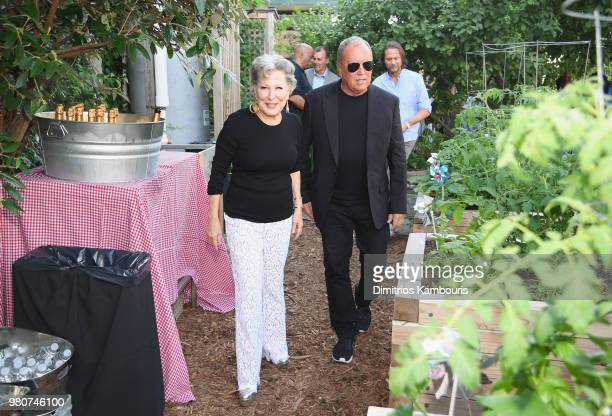 Bette Midler and Michael Kors attend as Michael Kors and the New York Restoration Project Celebrate The Opening Of The Essex Street Community Garden...