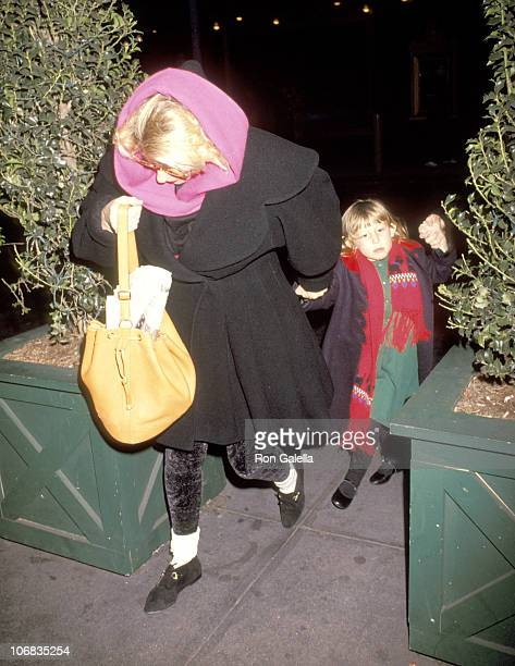 Bette Midler and Sophie von Haselberg during Bette Midler Attends a Performance of The Secret Garden on Broadway December 27 1991 at St James Theater...