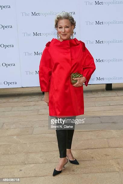 Bette Midler arrives for the Metropolitan Opera's 20152016 season opening night performance of 'Otello' held at The Metropolitan Opera House on...