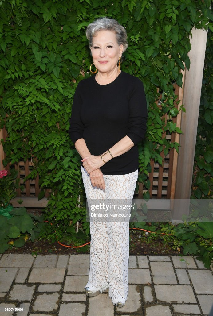 Bette Midler attends as Michael Kors and the New York Restoration Project Celebrate The Opening Of The Essex Street Community Garden on June 21, 2018 in Brooklyn, New York.