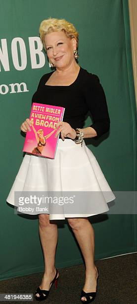Bette Midler attends Bette Midler In Conversation With Judy Gold at Barnes Noble Union Square on April 1 2014 in New York City