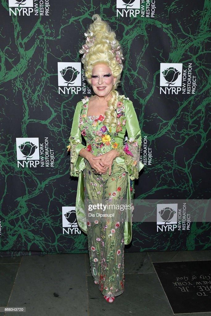 Bette Midler attends her 2017 Hulaween event benefiting the New York Restoration Project at Cathedral of St. John the Divine on October 30, 2017 in New York City.