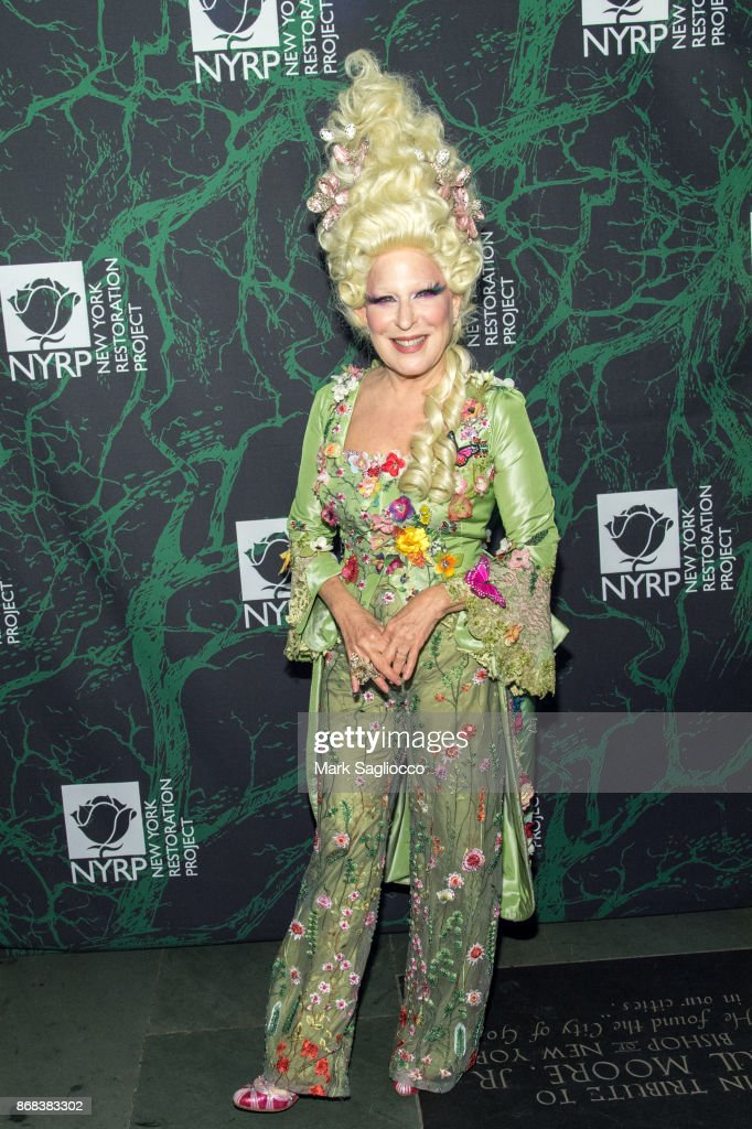 Bette Midler attends the Bette Midler's 2017 Hulaween Event Benefiting The New York Restoration Project at Cathedral of St. John the Divine on October 30, 2017 in New York City.