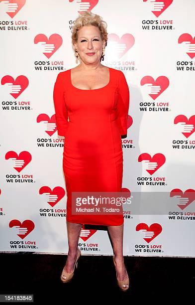 Bette Midler attends the God's Love We Deliver 2012 Golden Heart Awards Celebration at Cunard Building on October 15 2012 in New York City
