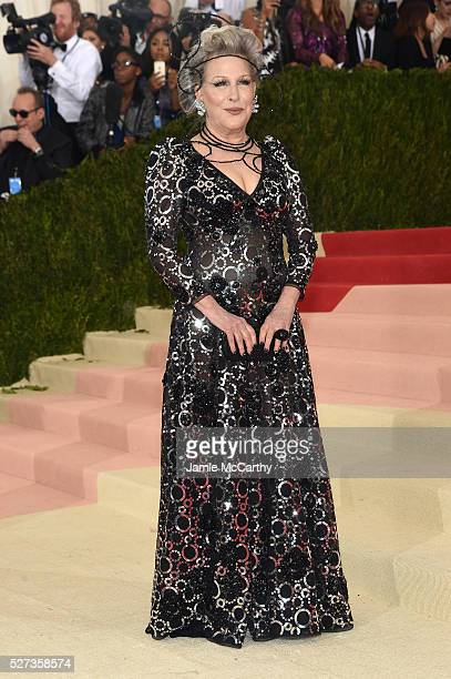Bette Midler attends the 'Manus x Machina Fashion In An Age Of Technology' Costume Institute Gala at Metropolitan Museum of Art on May 2 2016 in New...