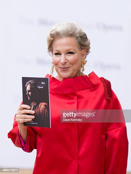Bette Midler attends the Metropolitan Opera 20152016 season opening night of Otello at The Metropolitan Opera House on September 21 2015 in New York...