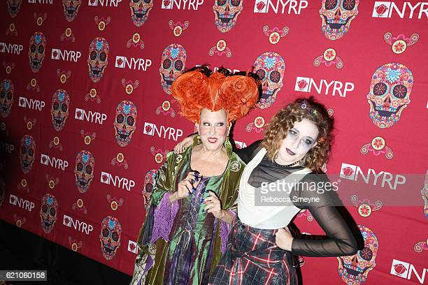 Bette Midler dressed as Winifred Sanderson from Hocus Pocus and her daughter Sophie Von Halsenberg in halloween costume attend Bette Midler's Annual...