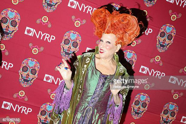Bette Midler dressed as Winifred Sanderson from Hocus Pocus attends Bette Midler's Annual Hulaween Bash benefiting the New York Restoration Project...