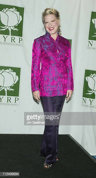 Bette Midler during New York Restoration Project's Hulaween Gala 2002 at Marriott Marquis in New York New York United States